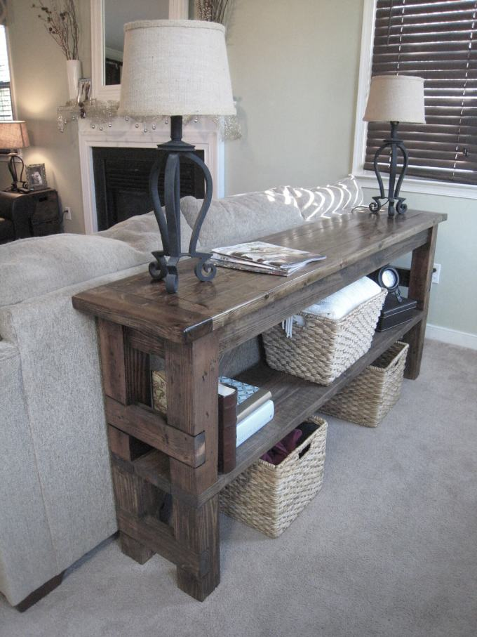 Rustic Chic Living Rooms Ideas - Iron Bar Driftwood Set - harpmagazine.com