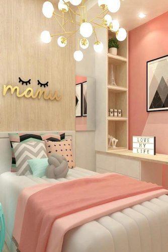 9. Cute Colorful Teen Bedroom Idea
