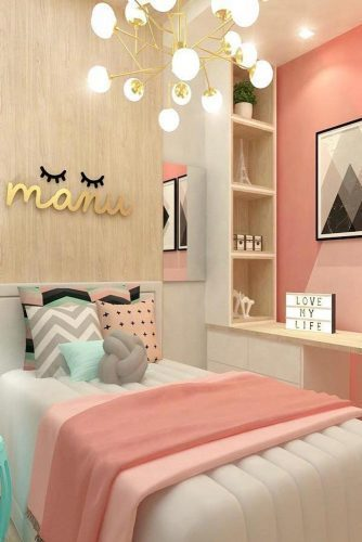 9. Cute Colorful Teen Bedroom Idea