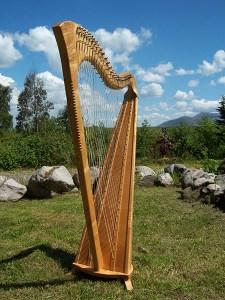 Harp in Landscape