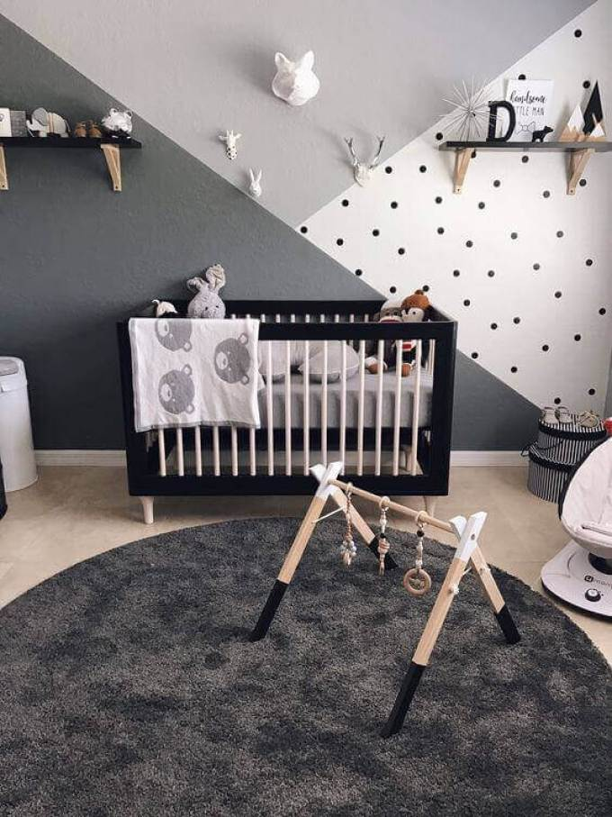 Baby Room Ideas Baby Boy Room with Monochromatic Patterns - Harppost.com