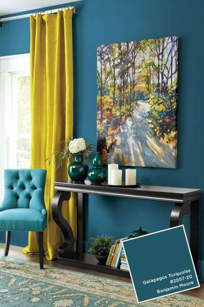 Bedroom Paint Colors Add a Lemon among The Turquoise - Harppost.com