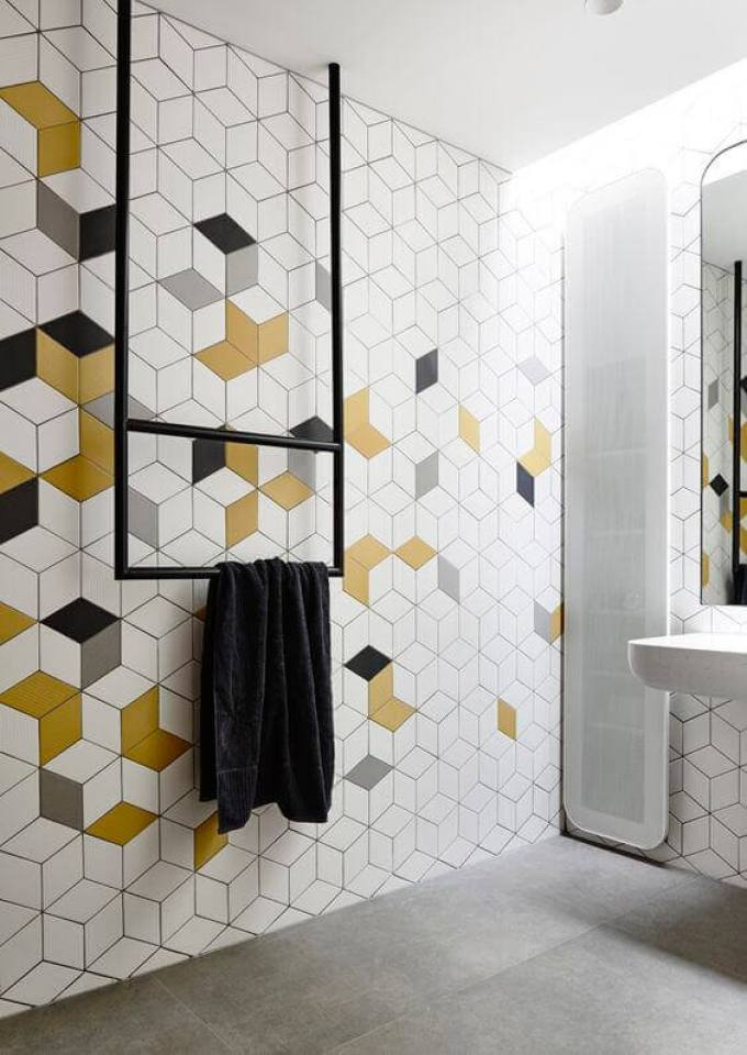 Bedroom Paint Colors Tints of Yellow in Geometric Style - Harppost.com