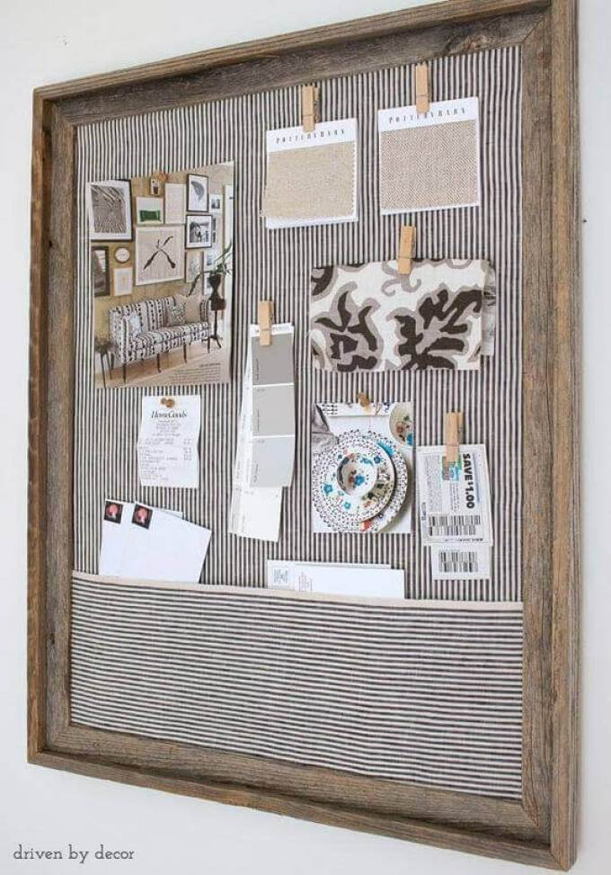 Cork Board Ideas with Pocket - Harppost.com