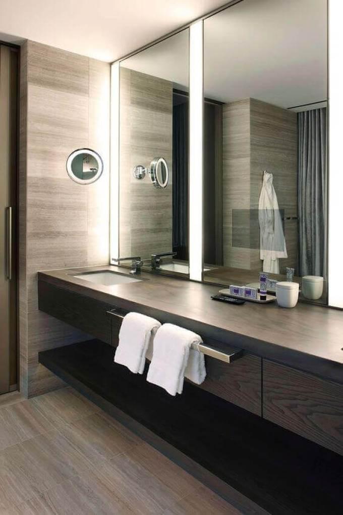 DIY Vanity Mirror with Lights for Contemporary Bathroom - Harppost.com
