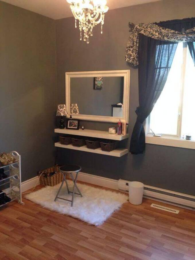 DIY Vanity Mirror with Natural Lights - Harppost.com