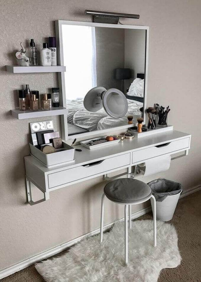 Floating Dresser for Small bedroom ideas - Harppost.com