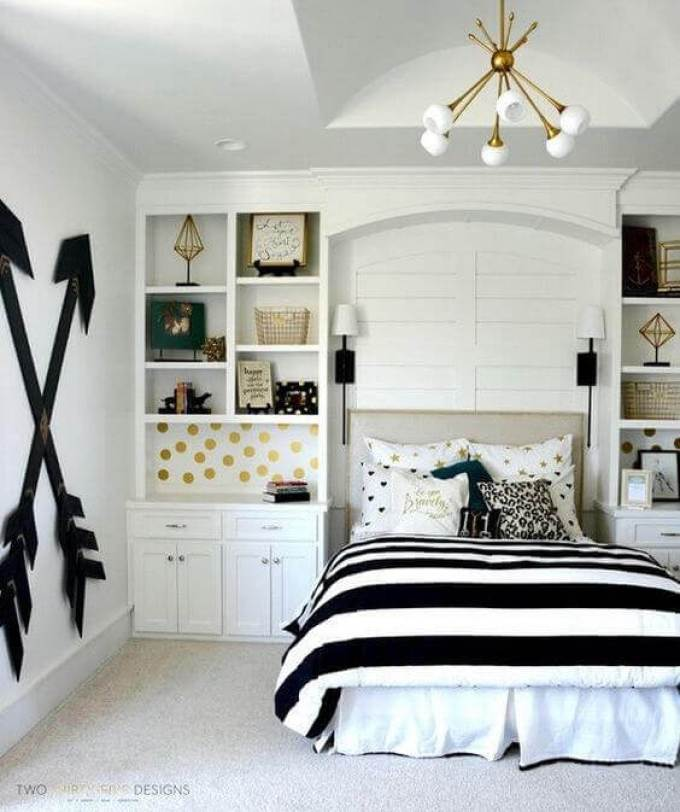Girls Bedroom Ideas with Built-In Cabinets - Harppost.com