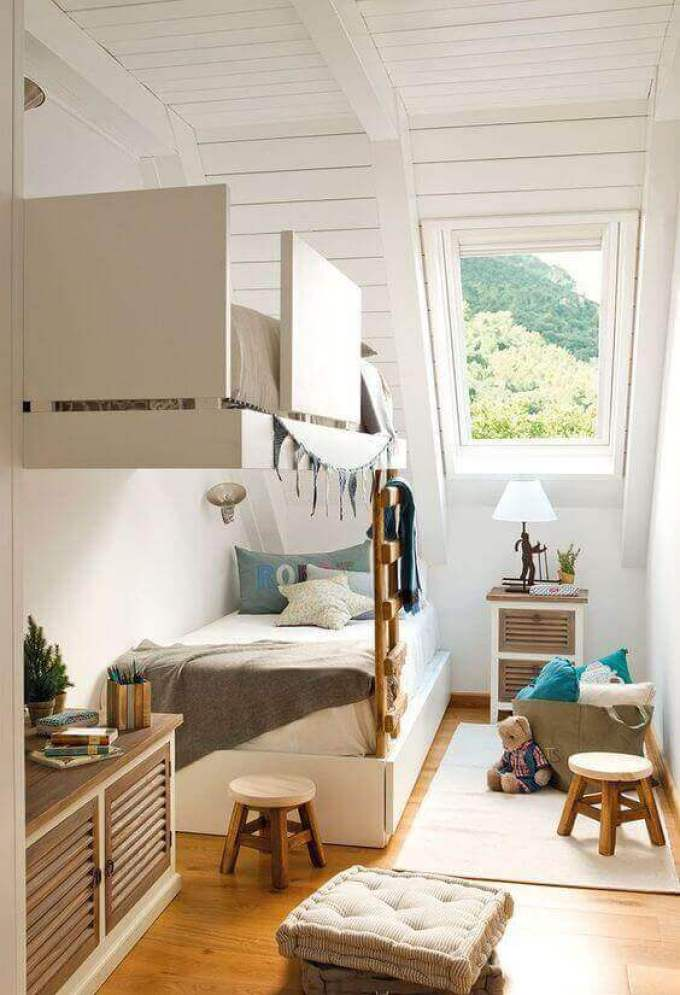 Kids Bedroom Ideas Attic Bunk Room - Harppost.com