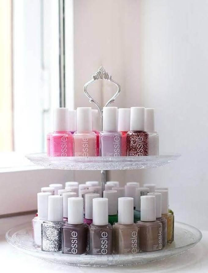 Makeup Room Ideas DIY Nail-Polish Rack - Harppost.com