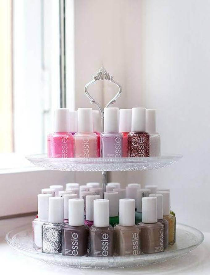 Makeup Room Ideas DIY Nail-Polish Rack - Harppost.com