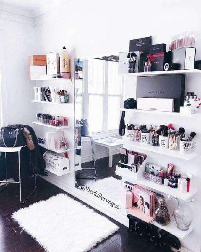 Makeup Room Ideas for Limited Space - Harppost.com