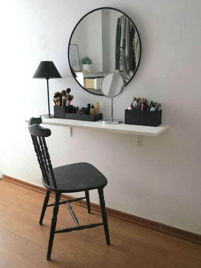 Modern Black and White Makeup Room Ideas - Harppost.com
