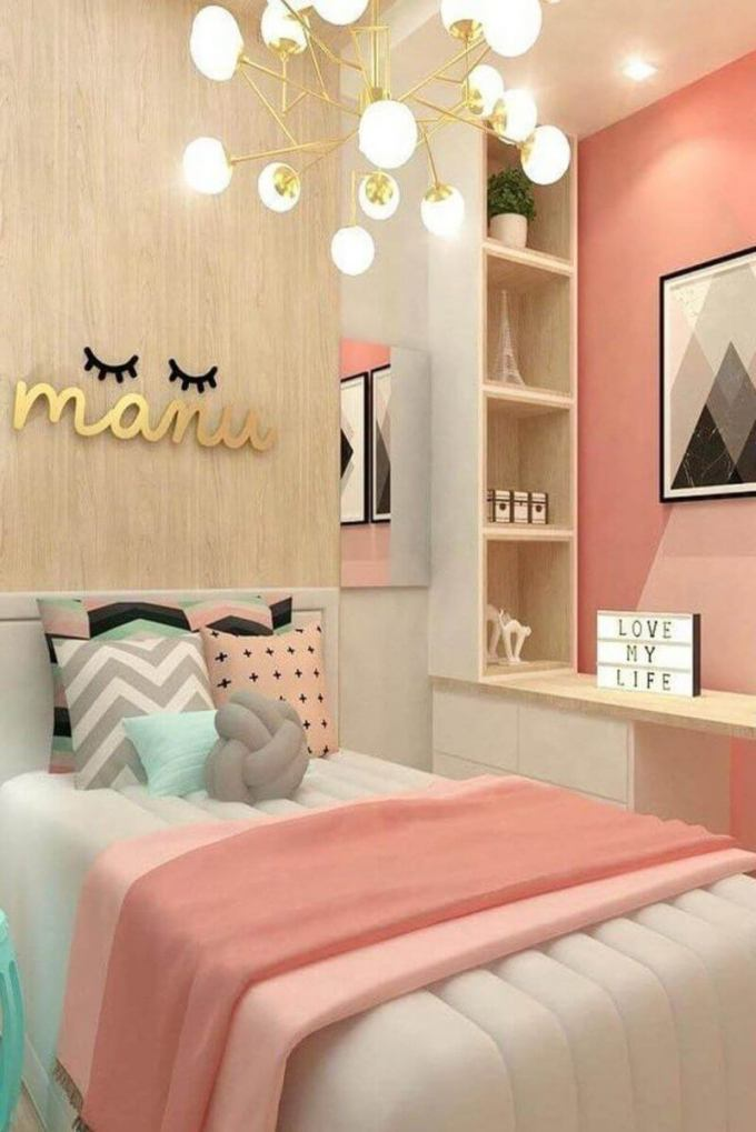 Pretty in Pink Concept for Teenage Girls Bedroom Ideas - Harppost.com