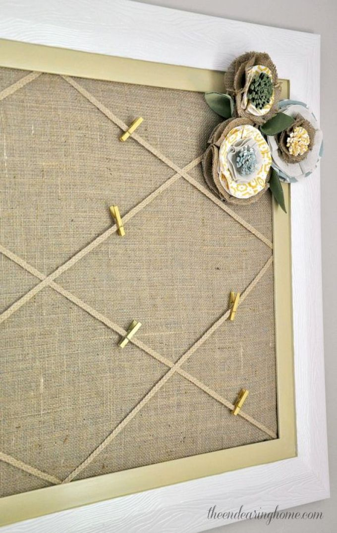 Shabby Chic Cork Board Ideas - Harppost.com