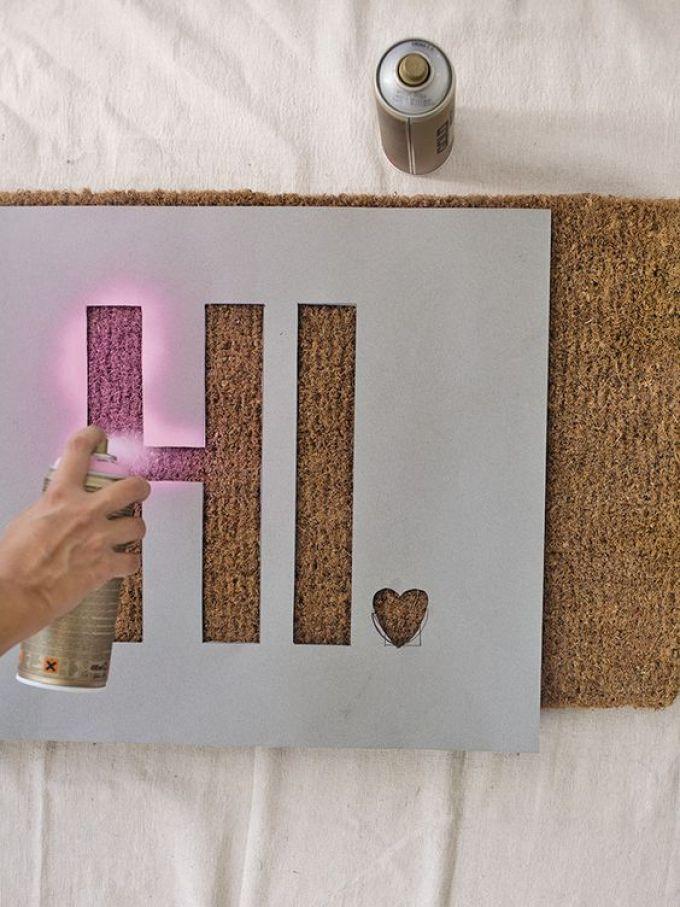 Stencil Your Cork Board Ideas - Harppost.com