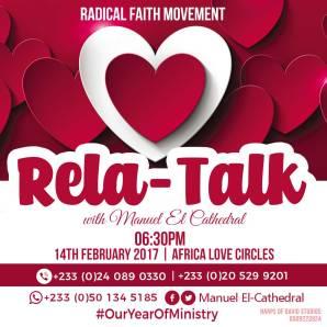 E-Flyer design for Radical Faith Movement