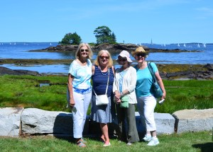 Cindy Sawyer, Joan Wells, Mary Maroney and Becky Gallery at the Camden Garden Club's tour