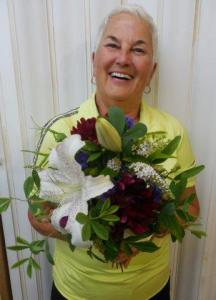 Jackie, the ultimate bouquet designer!