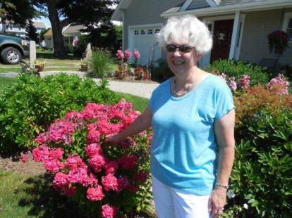 Becky and her vibrant phlox!