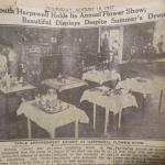 1937 Article about one of the early flower shows held by the Club at the Auburn Colony