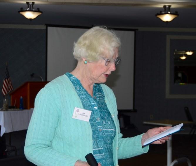HGC President Ann Standridge at the 2016 annual meeting