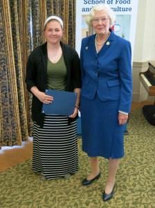 Arthur C. Clayton Scholarship winner Emily Watts with HGC President Ann Standridge