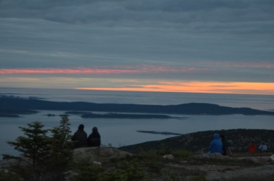 Sunrise, June 16, 2016 from the top of Cadillac Mountain, Acadia National Park