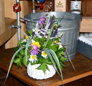 The washroom basket, in situ