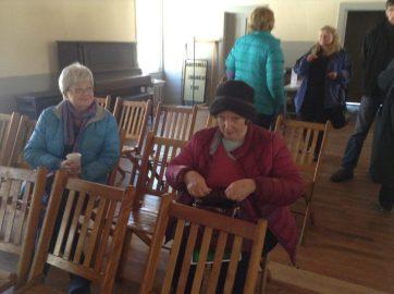 Keeping warm in Centennial Hall