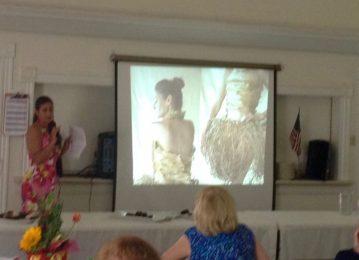Jacinda Martinez tells about her ephemeral fashions.