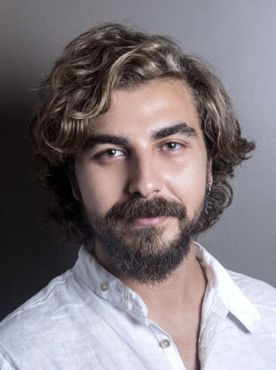 Curly Fringe Medium Length Hairstyle for Men - Harptimes.com