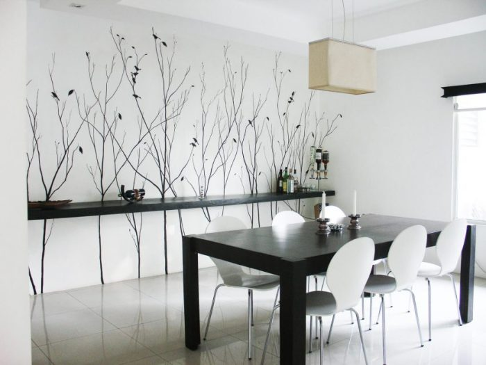 Modern Dining Room Wall Decor - Less is More - Harptimes.com