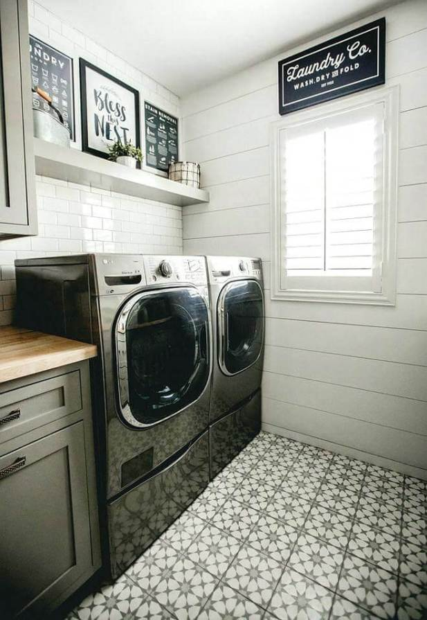 DIY Small Laundry Room Ideas - Patterns Do Better - Harptimes.com