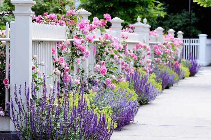 Romantic Fences Front Yard Landscaping Ideas - Harptimes.com