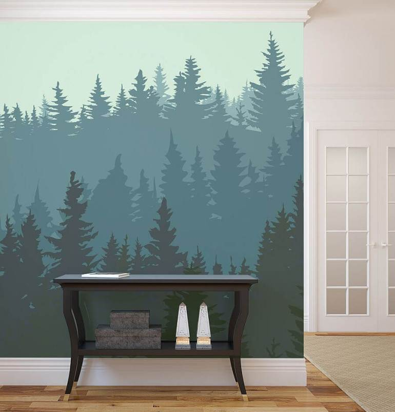 Paint Accent Wall Ideas - The Splendid Pine Forest - Harptimes.com