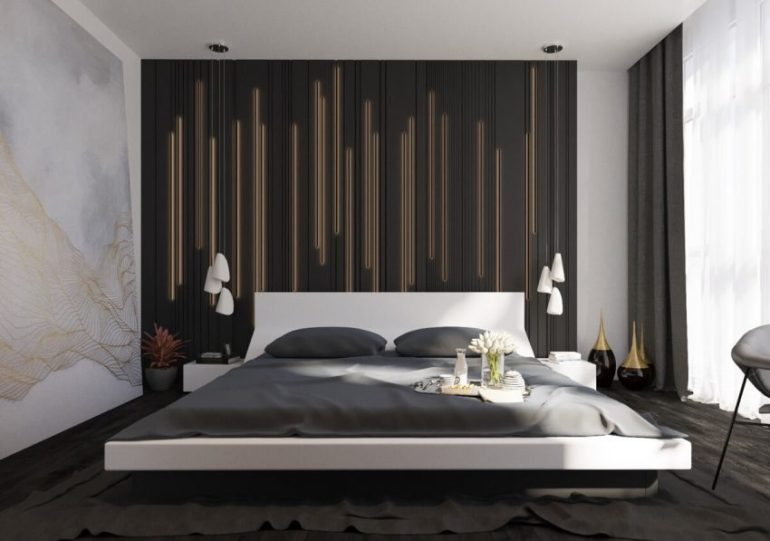 Accent Wall Ideas for Bedroom Feel the Beat - Harptimes.com