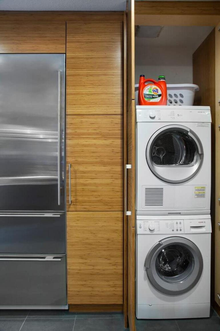 Simple Small Laundry Room Ideas - Keep Them All in Cabinets - Harptimes.com
