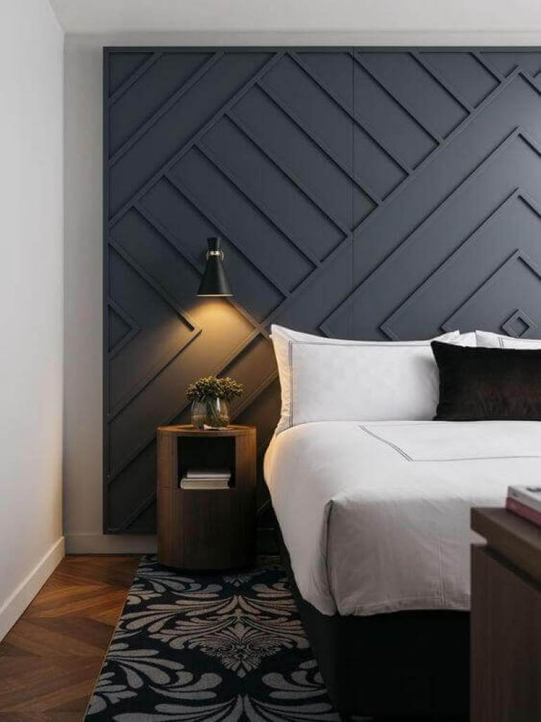Awesome Grey Accent Wall Ideas Master Bedroom - Harptimes.com
