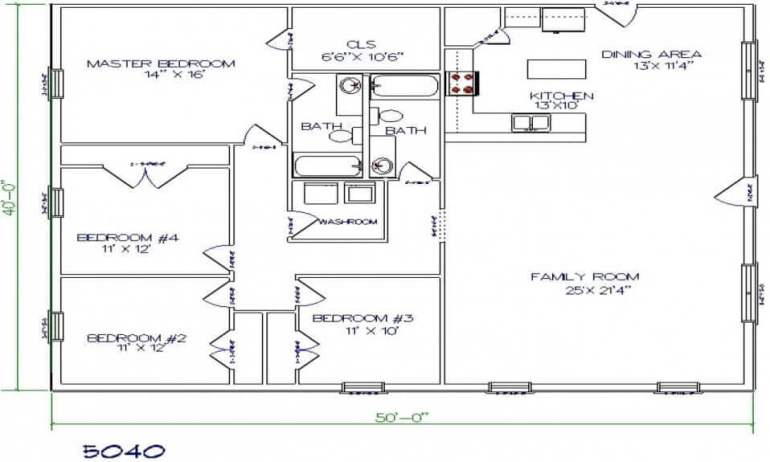 Barndominium Floor Plans - 10. Simple Yet Lovely Barndominium Floor Plan