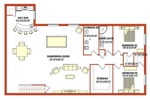 Barndominium Floor Plans - 12. Barndominium Floor Plan for Basement
