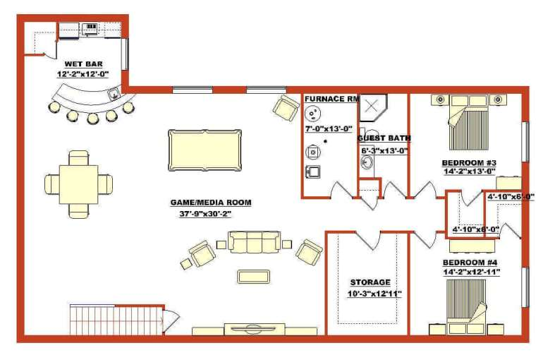 Barndominium Floor Plans - 12. Barndominium Floor Plan for Basement