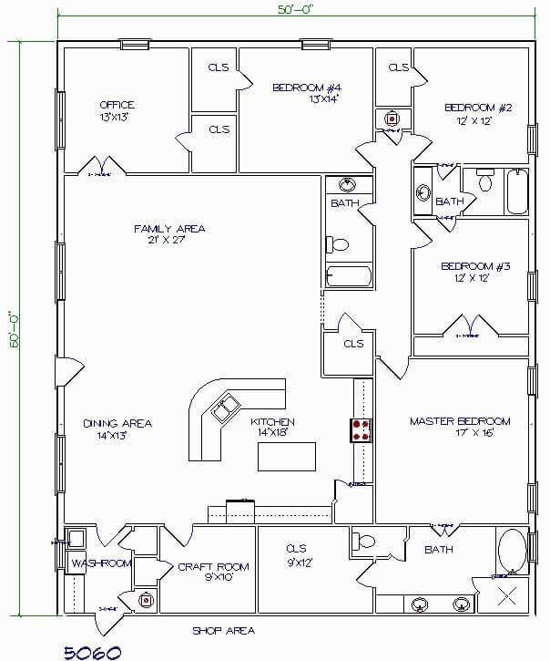 Modern Barndominium Floor Plans 2 Story With Loft 30x40 40x50 40x60