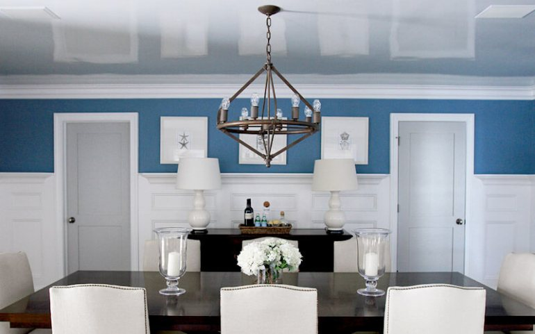 exposed basement ceiling ideas - 6. Use a High-Gloss Finish for The Ceiling - Harptimes.com