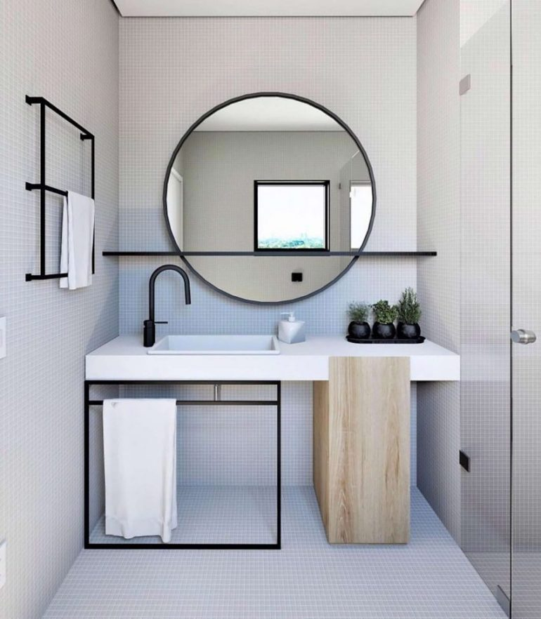 15. Bathroom Mirror Ideas with Shelf Q - Harptimes.com