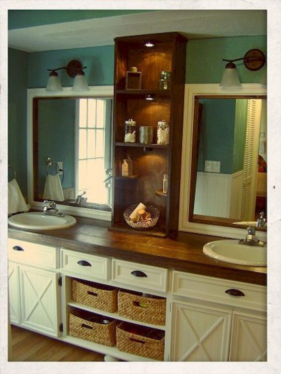 Bathroom Mirror Ideas 2. Double Farmhouse Bathroom Mirror Ideas - Harptimes.com