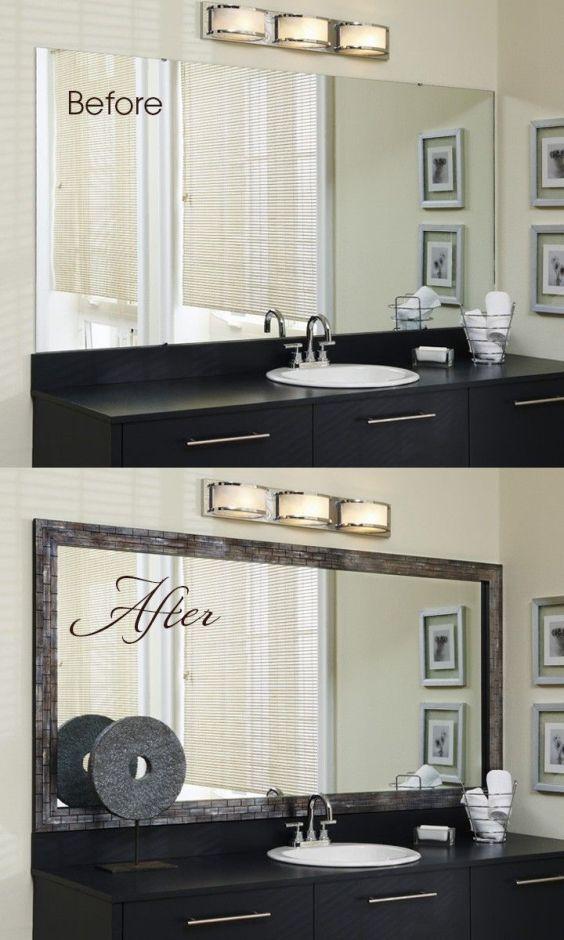 Framing Bathroom Mirror Ideas - Harptimes.com