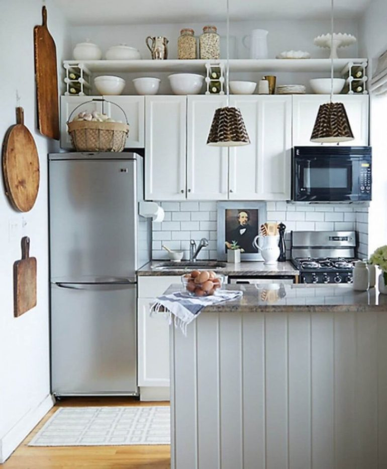 country kitchen decor ideas - 3. Attractive Small Kitchen Decor Ideas - Harptimes.com
