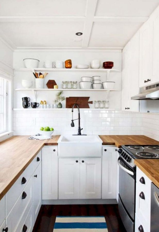 small kitchen decor ideas - 5. Minimalist White Kitchen Design Ideas - Harptimes.com