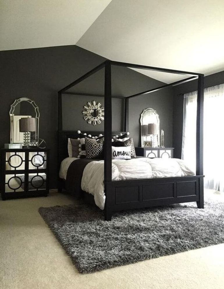 small master bedroom ideas with king size bed - 24. Elegant Master Bedroom with Canopy - Harptimes.com